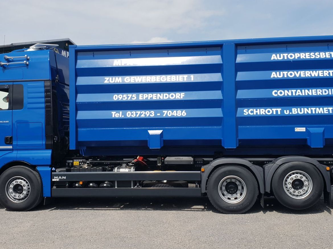 MAN Abrollkipper für Containertransporte